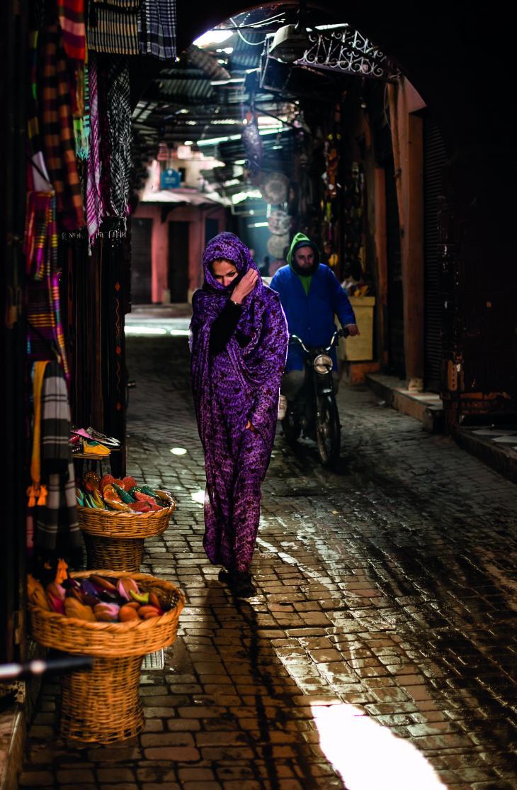 Мароко, пазарът в Маракеш